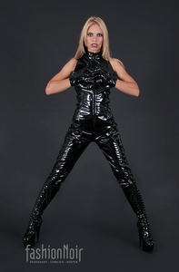 Second Skin PVC Catsuit Sleeveless