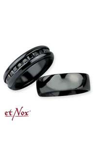 Partner ring set Dark Romance stainless steel - size 56+62