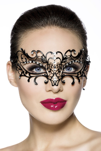 Black Butterfly Metal Mask