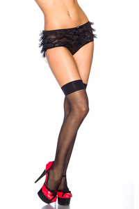Halterlose Stockings - Schwarz