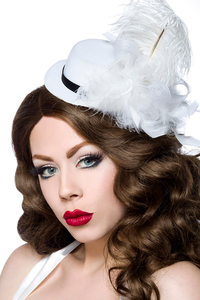 Feather Diva Mini Felt Hat