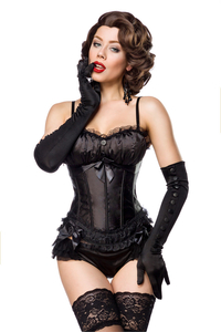 Cita Burlesque Satin Corsage - black