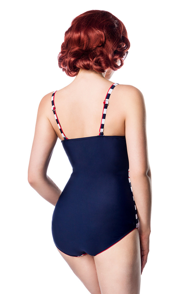Neva Vintage Swimsuit Blue-White-Red