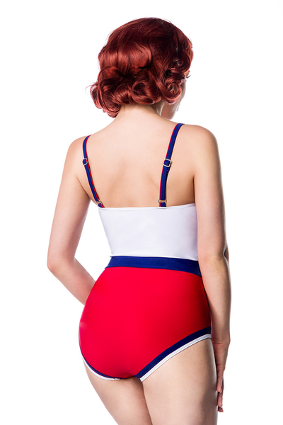Marine Swimsuit White-Blue-Red