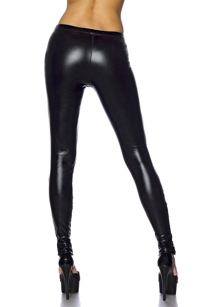 Hot Wetlook Leggings with Lacing