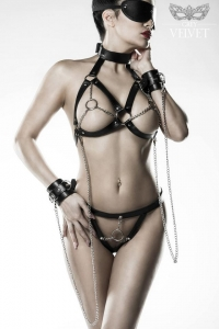Leatherette Chain Bra Set by Grey Velvet