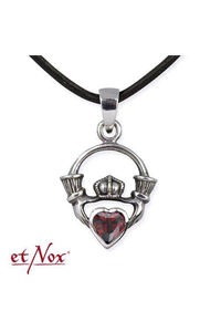 Pendant Claddagh - Silver 925 with red Zirconia