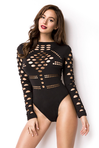Longsleeve Bodysuit with Cutout Details