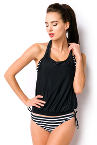 2 Piece Swimsuit - Black-White