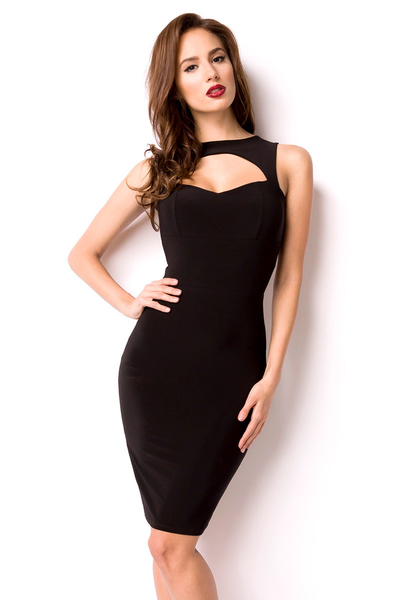 Pencil Dress mit Cut-Outs