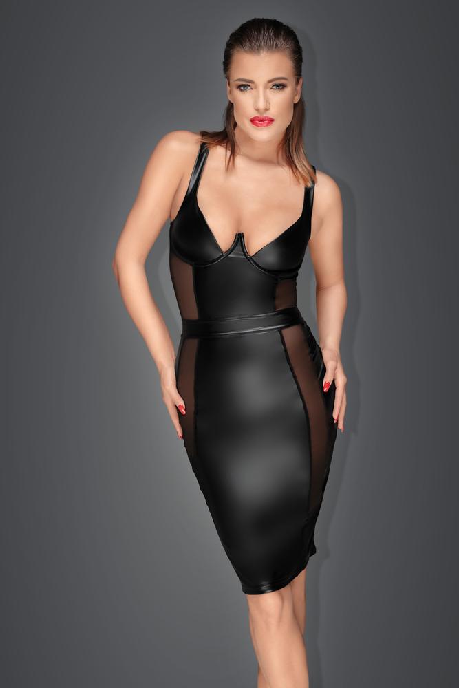 Noir Handmade Transparentes Tüll-Minikleid mit Ringen schwarz S-3XL