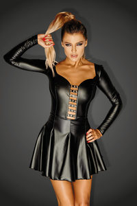 DIVA - Minikleid aus Power-Wetlook mit Ösen Egoiste