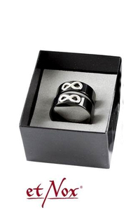 Partner ring set Infinity stainless steel - size 56+62