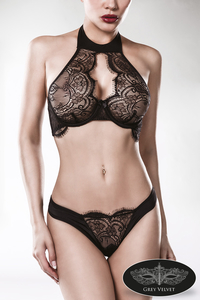Neck Bra Lace Set by Grey Velvet
