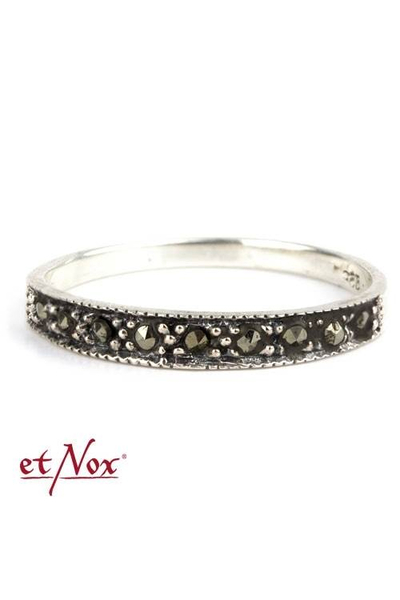 Marcasite Stars Silver Ring