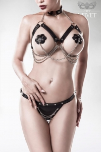 Erotic Chain Bra Set by Grey Velvet