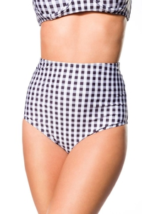 Retro Highwaist Bikini Panty with Vichy Check Pattern -...
