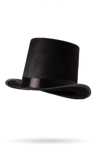 Top Hat with Black Satin Ribbon
