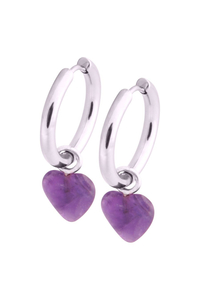 Little Heart Hoops - Amethyste
