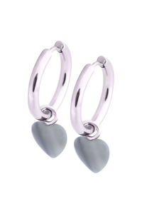 Little Heart Hoops - Blue