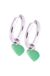 Little Heart Hoops - Green