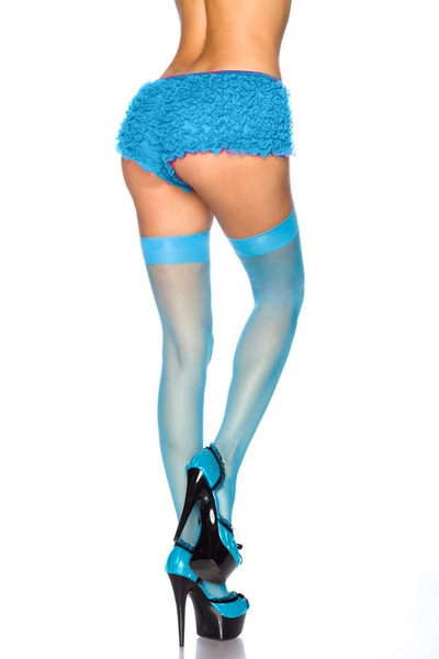 Halterlose Stockings - Blau