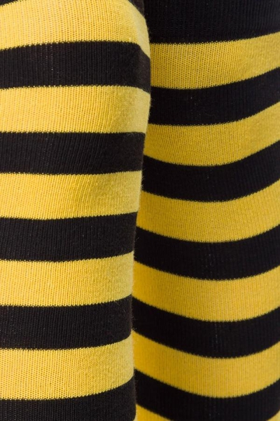 Black-Yellow Striped Overknee Socks