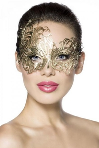Metall-Maske in Gold