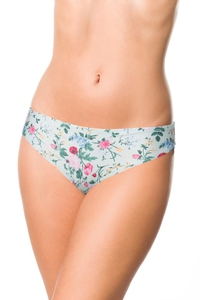 Bikini Panty with Delicate Flower Pattern -...