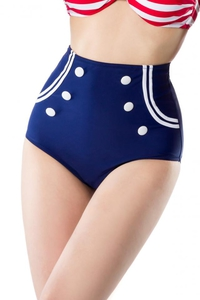 Kay Vintage Bikini Panties White-Blue-Red