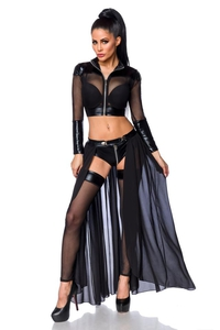 Transparentes Gogo-Set aus Wetlook