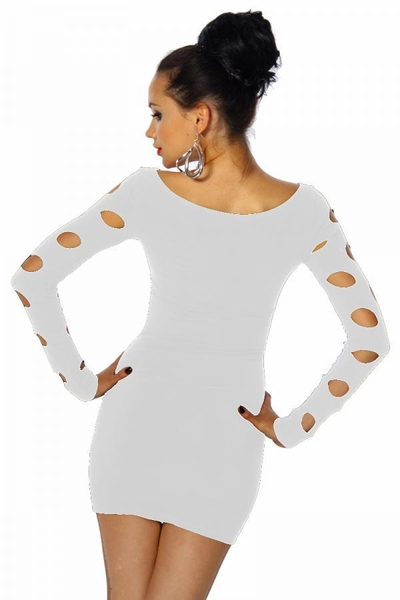 White Cut-Out Mini Dress