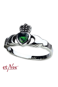 Ring Claddagh Steel with Zirconia