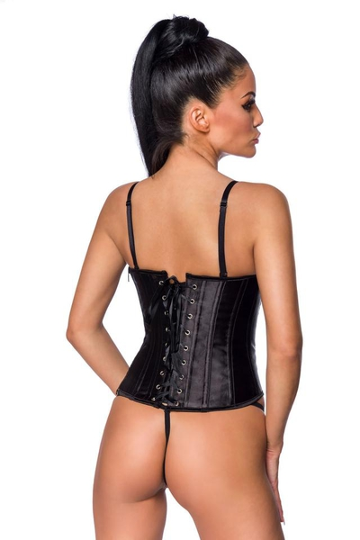 Satin Corset with Chain Decoration
