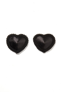 Black Heart-shaped Nipple Covers