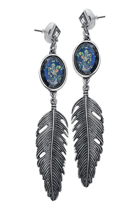 Opal Feather Earrings