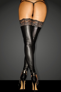 Powerwetlook-Stockings - Superstar Noir Handmade