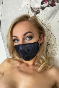 Powerwetlook and Mesh Face Mask - Noir Handmade