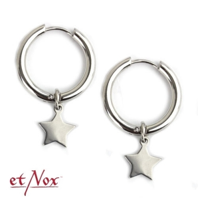 Hoop earrings Stars stainless steel